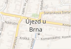 Újezd u Brna v obci Újezd u Brna - mapa části obce