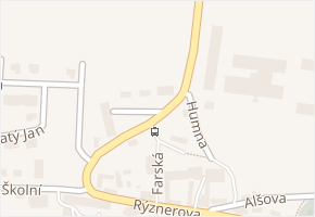 Stodolní v obci Únětice - mapa ulice
