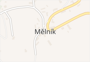 Mělník v obci Úžice - mapa části obce