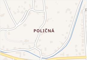 Poličná v obci Valašské Meziříčí - mapa části obce