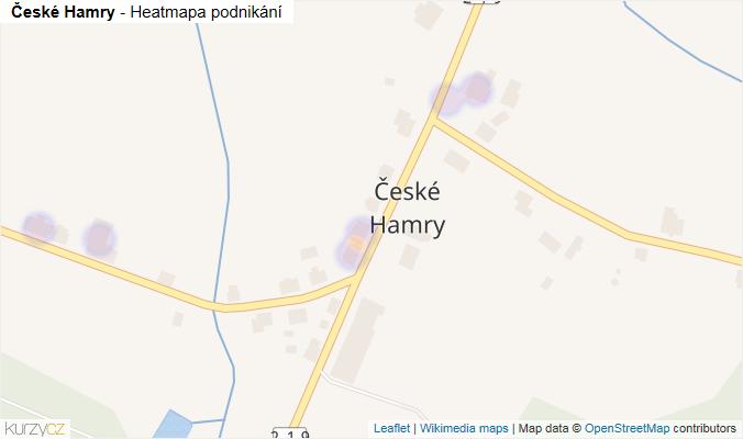 Mapa České Hamry - Firmy v části obce.