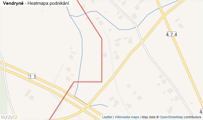 Mapa Vendryně - Firmy v obci.