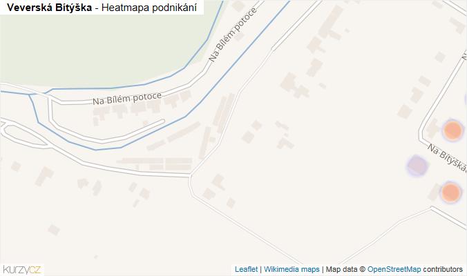 Mapa Veverská Bítýška - Firmy v obci.