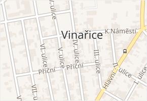 IV. ulice v obci Vinařice - mapa ulice