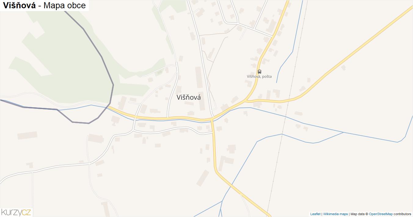 Višňová - mapa obce