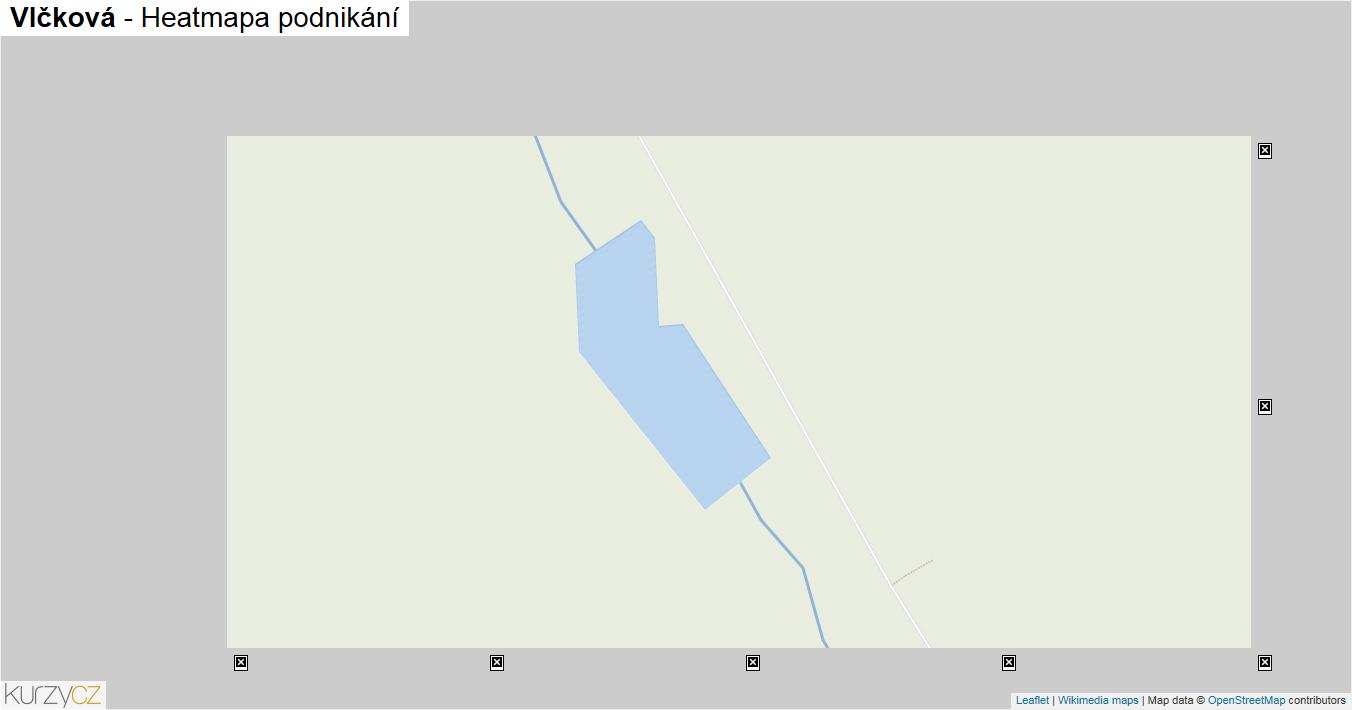 Vlčková - mapa podnikání