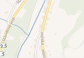 Hořejší Vrchlabí v obci Vrchlabí - mapa části obce