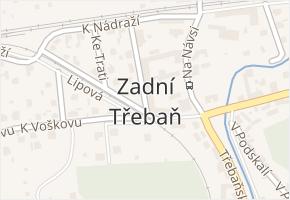 Zadní Třebaň v obci Zadní Třebaň - mapa části obce