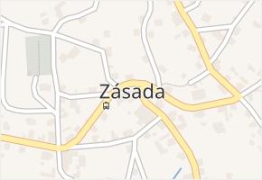 Zásada v obci Zásada - mapa části obce
