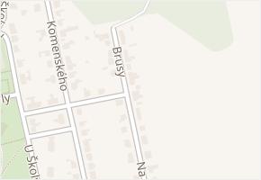 Brusy v obci Zastávka - mapa ulice