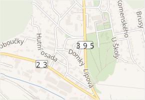 Domky v obci Zastávka - mapa ulice