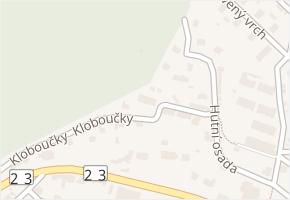 Kloboučky v obci Zastávka - mapa ulice