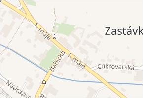 Zastávka v obci Zastávka - mapa části obce