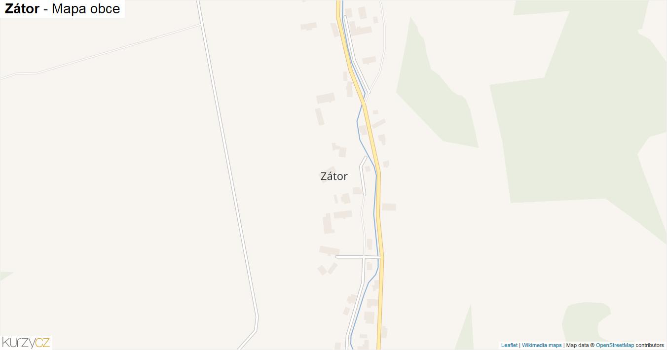 Zátor - mapa obce