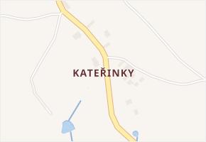 Kateřinky v obci Zbraslavice - mapa části obce
