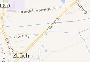 Plzeňská v obci Zbůch - mapa ulice