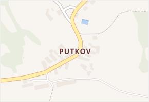Putkov v obci Zdíkov - mapa části obce