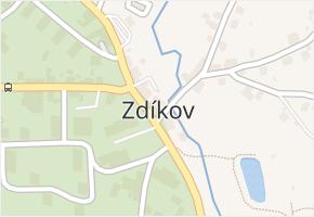 Zdíkov v obci Zdíkov - mapa části obce