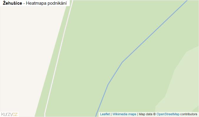 Mapa Žehušice - Firmy v obci.