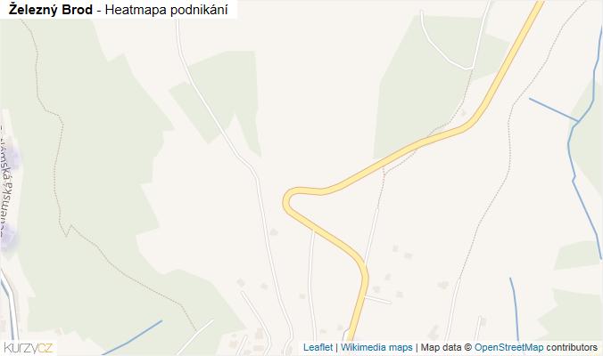 Mapa Železný Brod - Firmy v obci.