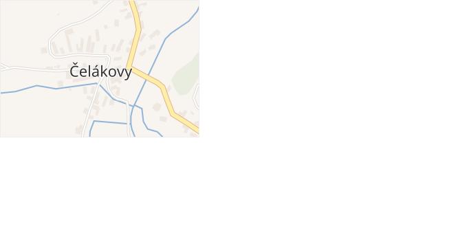 Čelákovy v obci Zemětice - mapa části obce