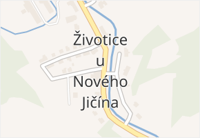 Životice u Nového Jičína v obci Životice u Nového Jičína - mapa části obce