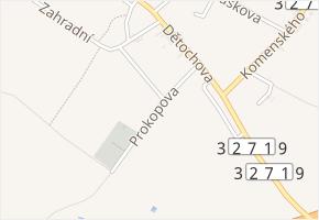 Prokopova v obci Žiželice - mapa ulice