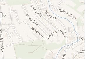 Mokrá III v obci Zlín - mapa ulice