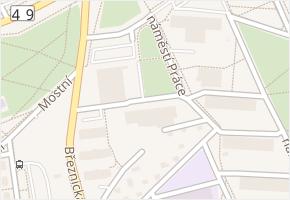 náměstí Práce v obci Zlín - mapa ulice