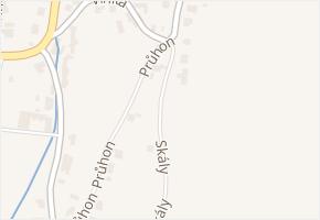 Skály v obci Zlín - mapa ulice