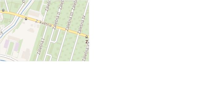 Zálešná I v obci Zlín - mapa ulice
