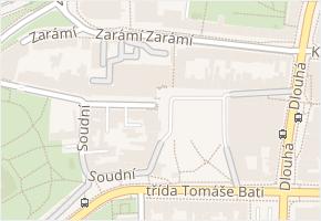 Zlín v obci Zlín - mapa části obce