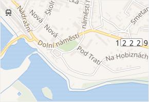 Dolní náměstí v obci Zliv - mapa ulice