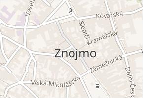 Znojmo v obci Znojmo - mapa části obce