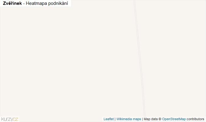 Mapa Zvěřínek - Firmy v obci.
