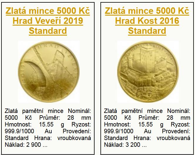 Katalog zlatých mincí
