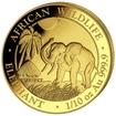Zlatá mince 100 Schillings Elephant (Slon africký) 1/10 Oz 2017 (African Wildlife Series)
