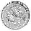 Lunární série II. - stříbrná mince 0,5 AUD Year of the Rooster (Rok kohouta) 1/2 Oz 2017