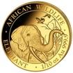 Zlatá mince 100 Schillings Elephant (Slon africký) 1/10 Oz 2018 (African Wildlife Series)