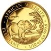 Zlatá mince 100 Schillings Elephant (Slon africký) 1/10 Oz 2019 (African Wildlife Series)