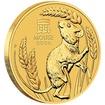 Lunární série III. - zlatá mince Year of the Mouse (Rok krysy) 1/4 Oz 2020