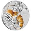 Lunární série III. - stříbrná mince Year of the Mouse (Rok krysy) 1/2 Oz 2020 Color