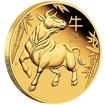 Lunární série III. - zlatá mince Year of the Ox (Rok buvola) 1/4 Oz 2021 PROOF