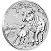 Lunární série III. - stříbrná mince Year of the Ox (Rok buvola) 1/2 Oz 2021