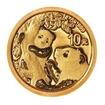 Zlatá mince 10 Yuan China Panda 1g 2021