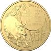 Zlatá mince Lunární série Year of the Ox (Rok buvola) 1 Oz 2021 (Lunar RAM)