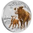 Lunární série III. - stříbrná mince Year of the Ox (Rok buvola) 1/2 Oz 2021 Color