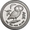 Stříbrná mince 1 Oz Athenian Owl (sova athénská, sýček obecný) 2021