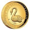 Exkluzivní zlatá mince 1 Oz Australian Swan (Labuť černá) 2021 High Relief PROOF