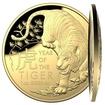 Exkluzivní zlatá mince Lunární série Year of the Tiger (Rok tygra) 1 Oz 2022 Dome PROOF (Lunar RAM)